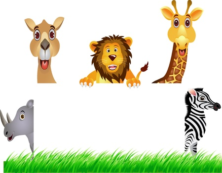 animal and white banner Vector