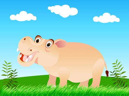 hippo cartoon: hippo cartoon
