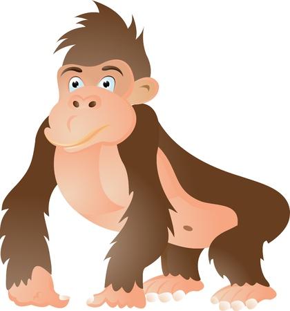 devious: gorilla cartoon Illustration