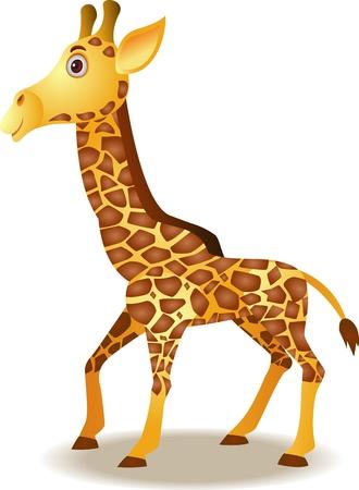 giraffe cartoon Vector