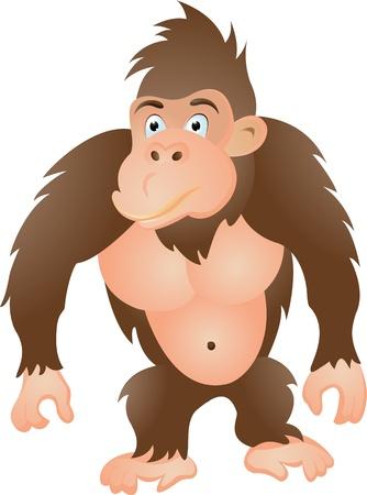 kong: gorilla cartoon Illustration
