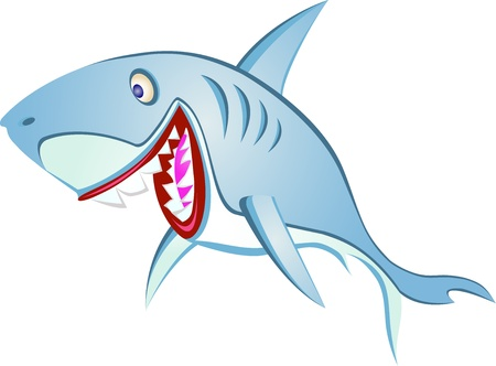 shark cartoon Stock Vector - 13408473