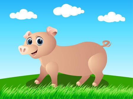 pig in the wild Vector