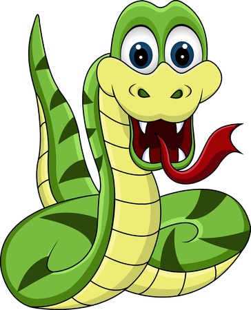venomous snake: funny snake cartoon