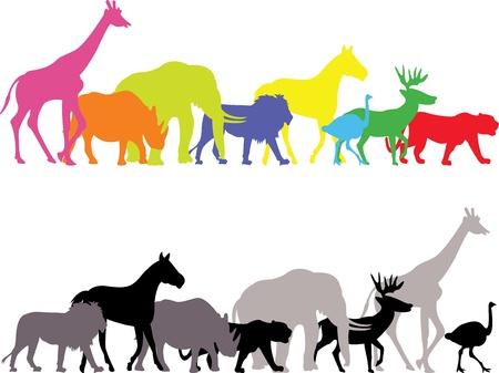 wild animal silhouette Ilustrace
