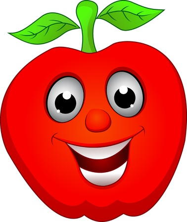 apple smile Vector