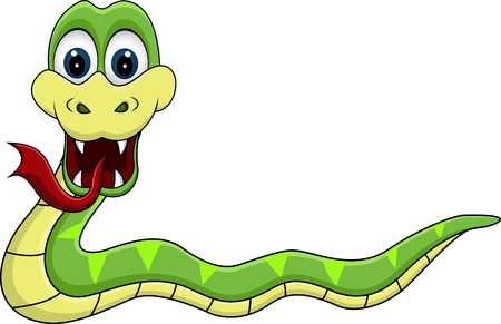 funny snake cartoon Stock Vector - 13864766