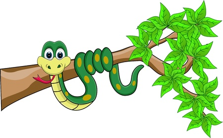 illustration zoo: funny snake cartoon