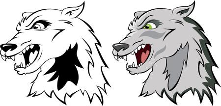 head a wolf Vector