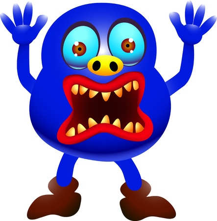 funny monster cartoon Stock Vector - 14288222