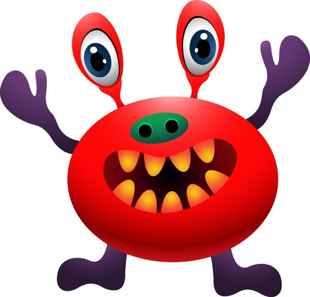 funny monster cartoon Illustration