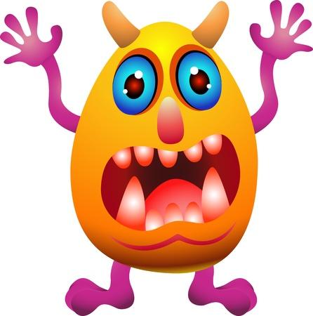 grappig monster cartoon Vector Illustratie