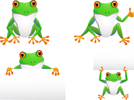 croaking: funny frog collection Illustration