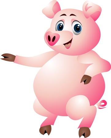funny pig cartoon Stock Vector - 14288166