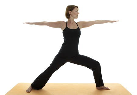 medium shot: Yoga Asana