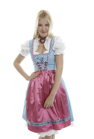 medium shot: Woman in Dirndl