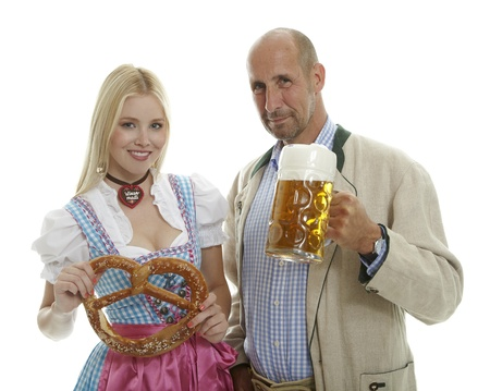 skoal: Woman in Dirndl and Man in Leather Trousers