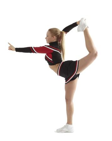 black cheerleader: Cheerleader pose