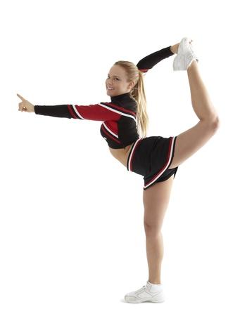 porrista: Cheerleader plantean Foto de archivo