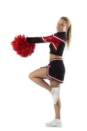 porrista: Cheerleading plantea con pompones