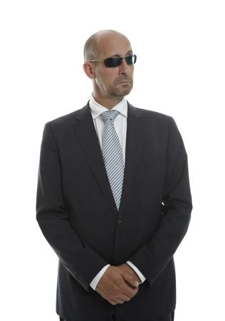 agent de s�curit�: L'homme dans le projet de lunettes de soleil Banque d'images