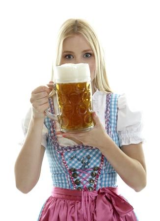 Woman with Beer Mug Stock Photo - 13442275
