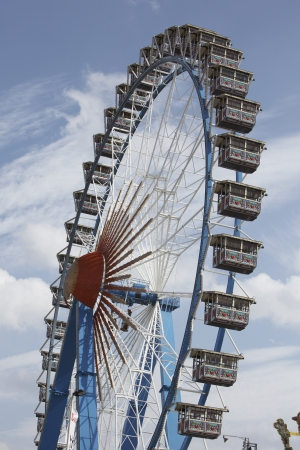 The high ferry wheel at the Oktoberfest in Munich