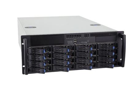 Storage server on white background Standard-Bild