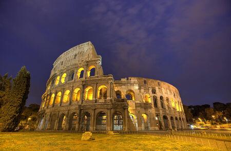 emporium: Colosseum in Rome, Italy during sunset Stock Photo