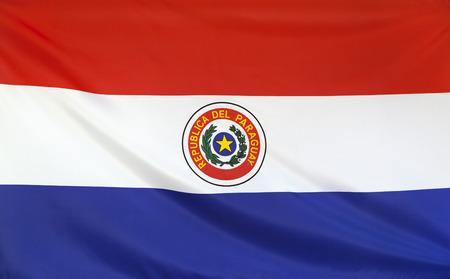 bandera de paraguay: Bandera de Paraguay verdadero tejido sin costuras cierre para arriba