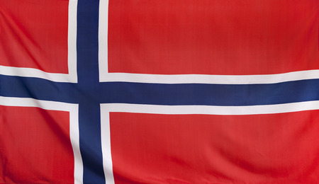 norway flag: Norway Flag real fabric seamless close up Stock Photo