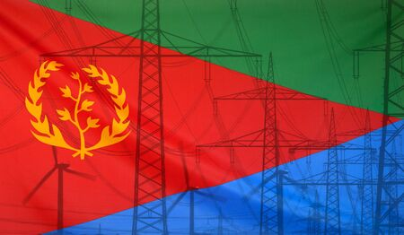 merged: Concept Energy Distribution, Flag of Eritrea merged with high voltage power poles