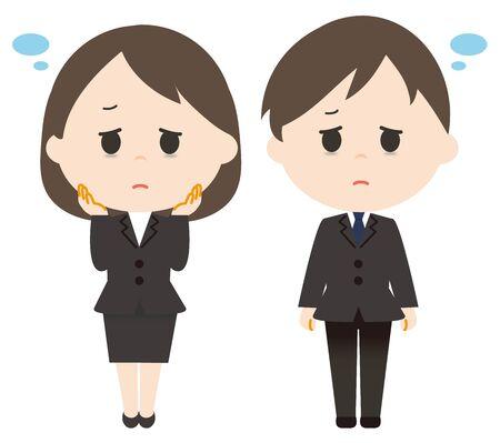 Men and women lack of sleep suit