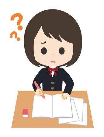 Schoolgirl Study Question