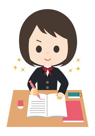 Female Student Motivation 矢量图像