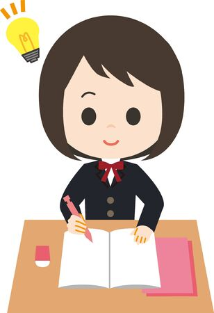 Schoolgirl Study 矢量图像