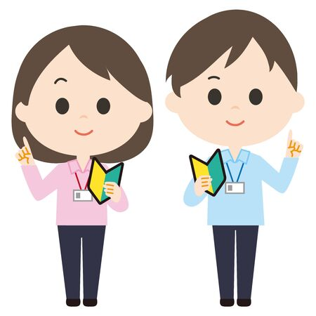 Male and female new staff