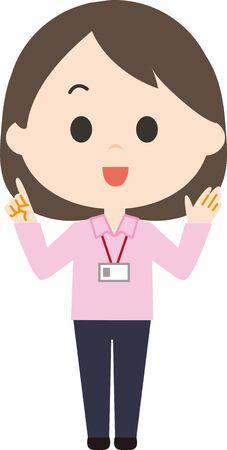 Female Description Staff 写真素材 - 150265631