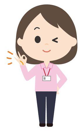 Female Staff OK  イラスト・ベクター素材