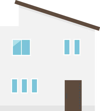 House icon.It is vector illustration on white isolated background.
