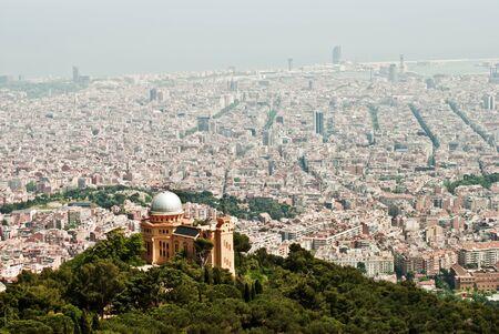 view from tibidabo in barcelona Stock Photo