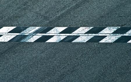 car race track: goal Stock Photo