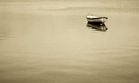 only boat on the lake
