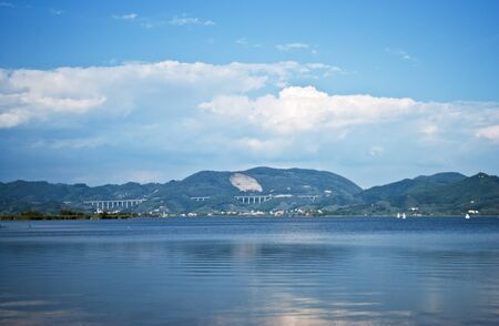 lake puccini in torre del lago Stock Photo
