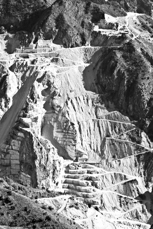 quarry in black and white