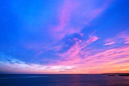 landscape at sunset Stock Photo