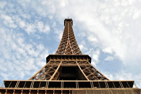 Eiffel tower symbol of France Stock Photo