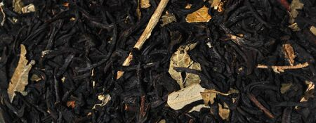 leaf black tea flavored with rose Stock Photo