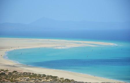 beach in Fuerteventura in a sunny day