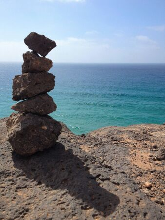 rocks in equilibrium with ocean views